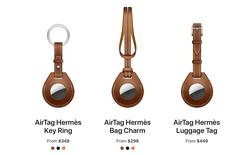 Apple cùng Hermes làm phụ kiện cho AirTag, giá gần 10 triệu đồng cho một chiếc... móc khoá