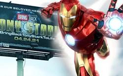 """Fan MCU """"chơi lớn"""", thuê biển quảng cáo siêu to khổng lồ đòi Marvel hồi sinh Iron Man"""