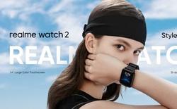 Realme Watch 2 ra mắt: Thiết kế giống Apple Watch, có đo SpO2, chống nước IP68, pin 12 ngày, giá 1.29 triệu đồng