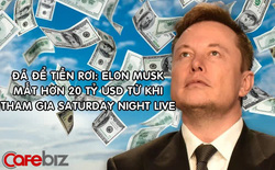 Tài sản Elon Musk 'bốc hơi' hơn 20 tỷ USD từ khi xuất hiện trong chương trình tấu hài Sarturday Night Live
