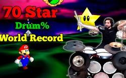 """Game thủ chơi Mario bằng trống thay cho tay cầm, chỉ gần 1,5 tiếng đã """"phá đảo"""""""