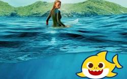 """Ryan Reynolds cho con gái 1 tuổi xem phim cá mập kinh dị của vợ để giúp bé """"cai"""" Baby Shark"""