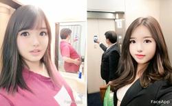 """Thêm 1 ông chú Nhật Bản biến hóa thành hotgirl nhờ sử dụng """"ma thuật"""" FaceApp"""
