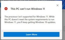 Microsoft tiếp tục nâng yêu cầu phần cứng Windows 11: Yêu cầu chip Intel đời 8, Ryzen 2000 trở lên