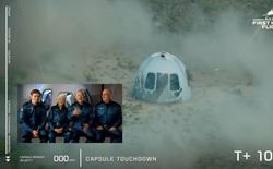 """Jeff Bezos vừa bay lên vũ trụ thành công và trở lại Trái Đất an toàn, đạt được giấc mơ thủa bé: """"Đây là ngày đẹp nhất đời tôi"""""""