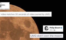 Công ty âm nhạc Universal Music Group đòi bản quyền video vì có chứa hình ảnh Mặt trăng