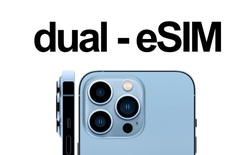 iPhone 13 hỗ trợ eSIM kép, có thể dùng 2 SIM mà không cần đến SIM vật lý