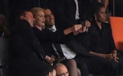 """Tổng thống Mỹ """"gây bão"""" vì chụp ảnh tự sướng tại lễ truy điệu huyền thoại Nelson Mandela"""