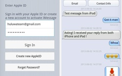 Cẩn trọng với ứng dụng cho gửi tin nhắn iOS iMessage trên Android