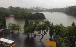 Mạng xã hội ngập tràn thông tin mưa bão tại Hà Nội