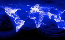 Việt Nam sáng rực trên bản đồ kết nối Facebook toàn thế giới