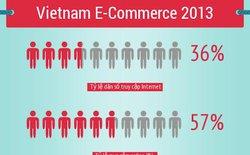 [Infographic] Thống kê sơ bộ ngành thương mại điện tử ở Việt Nam năm 2013