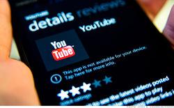 Windows Phone không đủ lớn để Google phát triển riêng ứng dụng Youtube