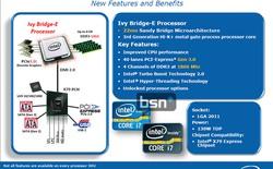 Loạt CPU Ivy Bridge-E sẽ ra mắt vào đầu tháng 9 tới