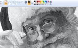 Bức vẽ ông già Noel từ Microsoft Paint đẹp đến khó tin