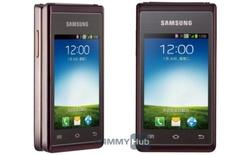 Lộ ảnh báo chí Samsung Galaxy Folder nắp gập vỏ sò chạy Android 4.1