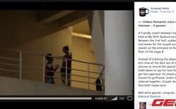 Cộng đồng mạng dậy sóng vì clip fan Arsenal cầu hôn tại sân Mỹ Đình