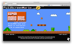 Quay lại tuổi thơ với Super Mario chơi ngay trên nền web