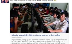 """Cộng đồng mạng """"than trời"""" vì... lại đứt cáp quang Internet"""