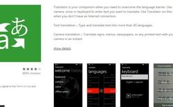 Bing Translator trên Windows Phone đã có thể dịch được tiếng Việt