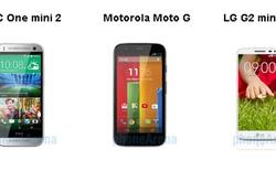 HTC One mini 2 , Moto G và LG G2 mini đọ cấu hình