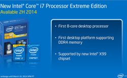 Intel giới thiệu chip Haswell-E: 8 nhân xử lý, hỗ chuẩn RAM mới