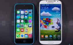 Mỹ: iPhone 5s thống trị, Galaxy S4 ganh đua với iPhone 5c
