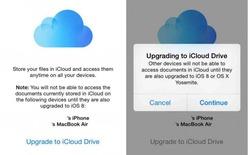 Đừng vội kích hoạt iCloud Drive khi nâng cấp iOS 8