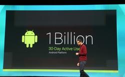 Android chạm mốc 1 tỷ người dùng hàng tháng