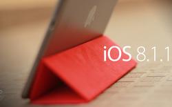 Nâng cấp iOS 8.1.1 để giải phóng 500MB bộ nhớ hệ thống