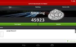 Lộ cấu hình Nexus 9 qua trình Benchmark AnTuTu