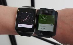 Cận cảnh bộ đôi smartwatch Samsung Gear Live và LG G Watch