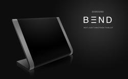 Lạ mắt với ý tưởng tablet Samsung Bend cong huyền bí