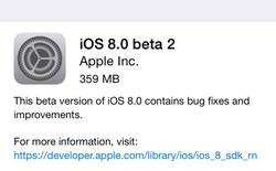 Apple phát hành bản cập nhật iOS 8 beta 2 tới nhà phát triển