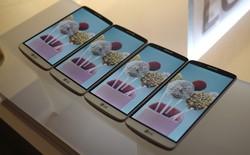 So kích thước LG G3 cùng các siêu di động Android
