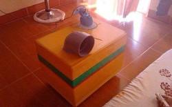 Chiếc quạt đá tự chế độc đáo từ hộp xốp và ống nhựa