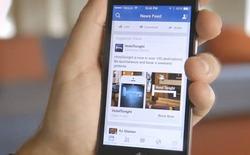 Facebook giảm bớt quảng cáo trên bảng tin người dùng