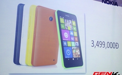 Microsoft ra mắt Lumia 630 hai SIM tại Việt Nam