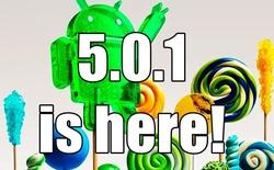 Trình diễn Android 5.0.1 trên Note 4, Note Edge và S5 LTE-A