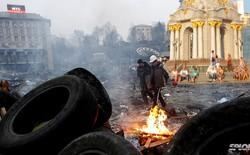 Xem trực thăng không người lái quay cảnh bạo loạn ở Ukraine từ trên không