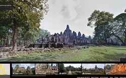 """Du lịch"" đền cổ Angkor Wat qua Google Street View"