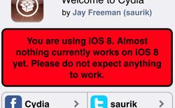 Hướng dẫn cài đặt Cydia sau khi đã jailbreak iOS 8