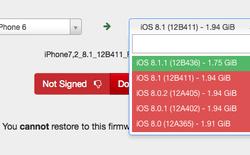 """Apple chính thức chặn """"đường về"""" iOS 8.1"""