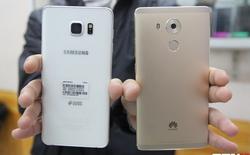 Huawei Mate 8 mở khóa vân tay nhanh gấp đôi Note 5