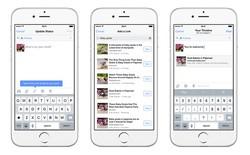 Người dùng iPhone có thể tìm link tự động khi đăng status trên Facebook