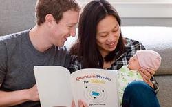 Mark Zuckerberg đọc sách vật lý lượng tử cho con gái vừa chào đời