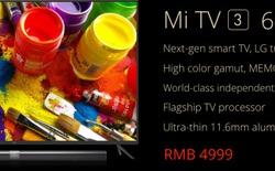 Xiaomi Mi TV 3: màn hình 60 inch 4K, vỏ kim loại, giá 17,6 triệu đồng