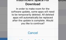 iOS 9 hỗ trợ cập nhật, cho phép xóa ứng dụng hệ thống tạm thời