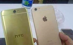Lộ ảnh mặt sau rõ nét HTC O2 đọ dáng bên iPhone 6
