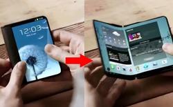 Samsung làm smartphone màn hình có thể gập vào năm 2016